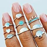 Pura Vida Bracelets Shell Ring Stack