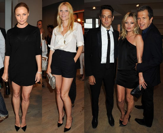 Kate Moss, Jamie Hince, Gwyneth Paltrow, Stella McCartney at Mario Testino Kate Who Exhibition