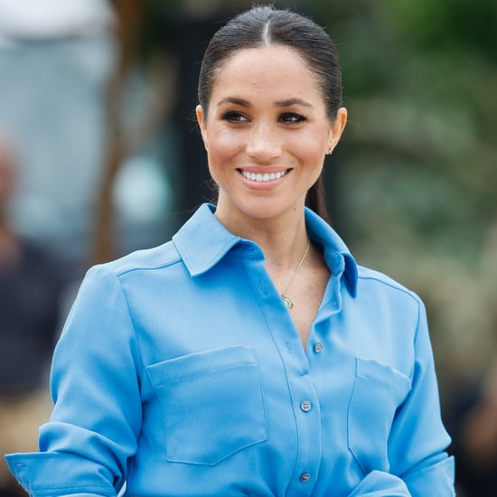 Meghan Markle Blue Veronica Beard Dress in Tonga 2018