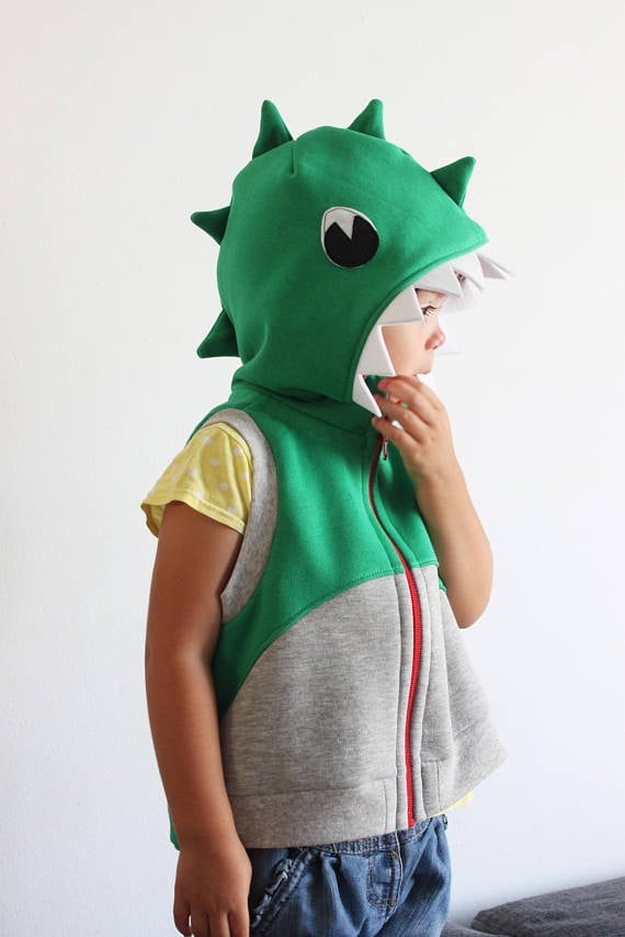 Sleeveless Dinosaur Hoodie