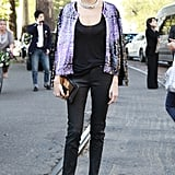 Another reason to love Taylor Tomasi Hill in basic black and major statement accoutrements; the master of mix and match.