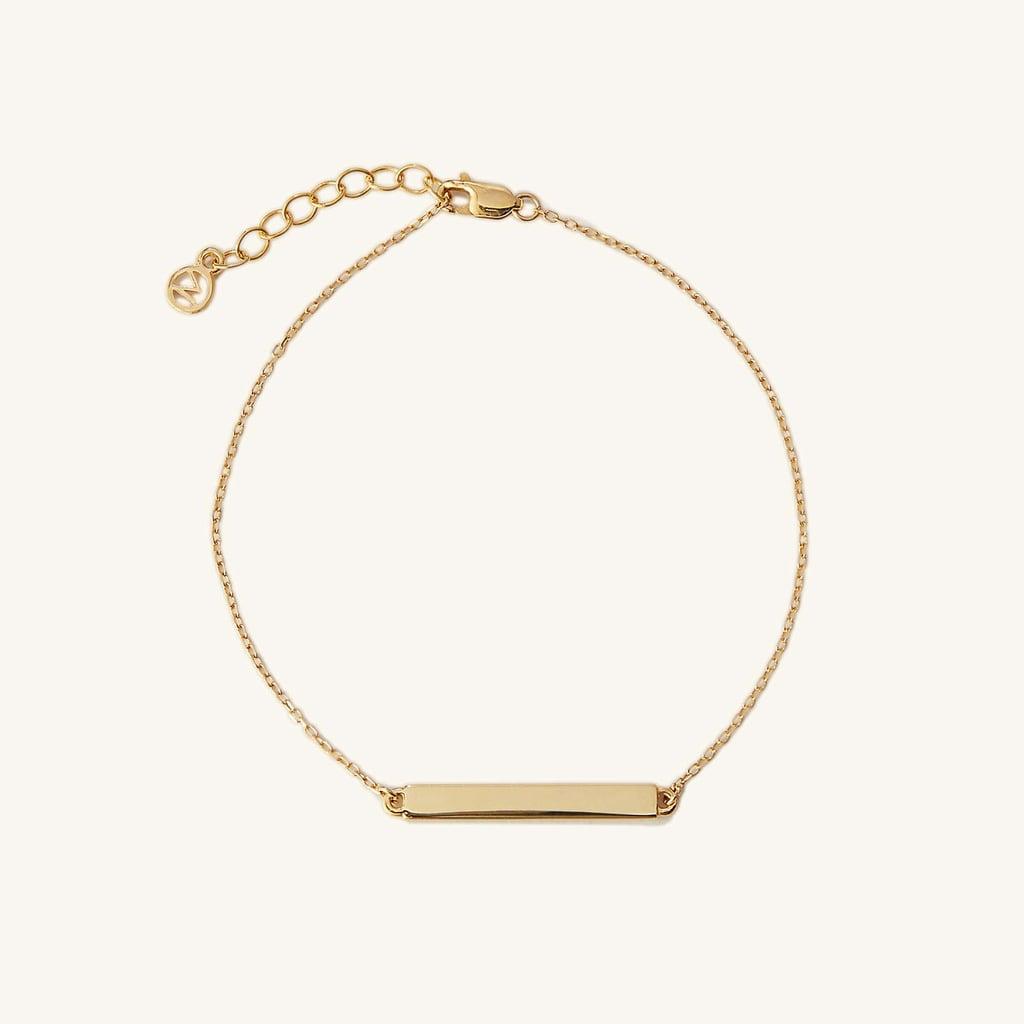 Words of Affirmation: Engravable Bar Bracelet