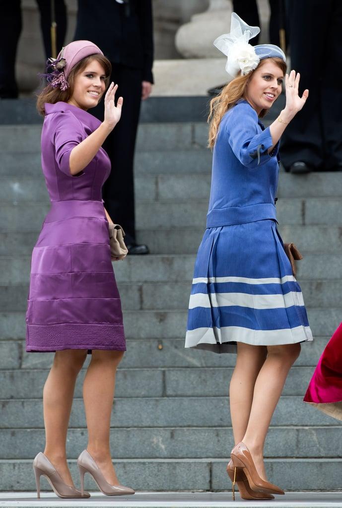 Princess Eugenie and Princess Beatrice, Diamond Jubilee Service 2012