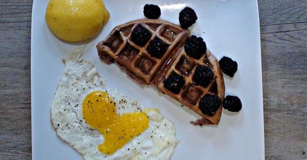 Lemon Blackberry Waffles