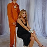 """""""I was wearing a black Nicole Miller dress, and I went with one of my good friends from elementary school. He and all of his closest friends dressed up in Dumb & Dumber suits as a surprise. I wish I would have gotten the memo so we didn't make a Halloween statement in all the pictures."""" — Lizzie Fuhr"""