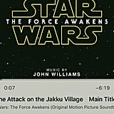 You spent your weekend listening only to the Star Wars soundtrack.