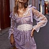 For Love & Lemons Valentina Lace Mini Dress