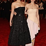 Girls who wear Dior together, stick together! Jennifer Lawrence and Marion Cotillard made pretty punks in black and peachy pink, respectively.