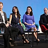 February: Kate kicked off the first Royal Foundation Forum with Meghan, Harry, and William.