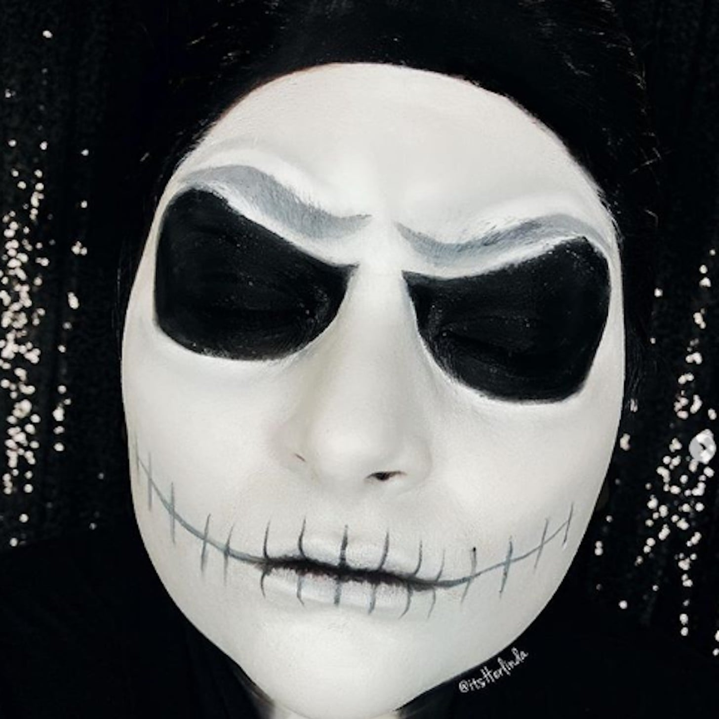 Christmas Halloween Makeup.Nightmare Before Christmas Makeup Looks Popsugar Beauty