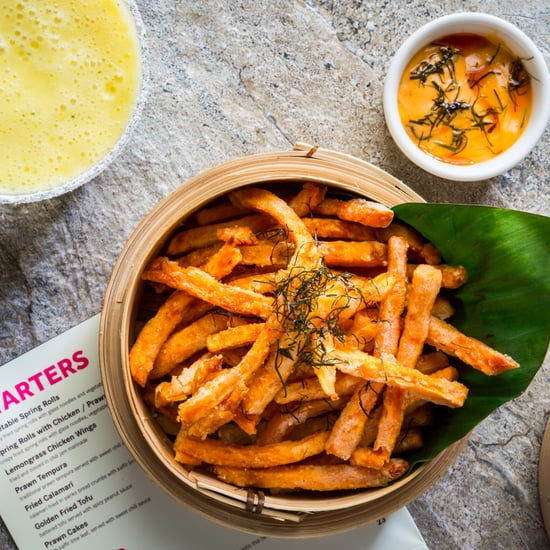 Gluten-Free Sweet Potato Fries with Peanut Sweet Chili Sauce