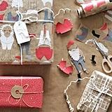 Vinter 2019 Beige Patterned Gift Wrap Roll