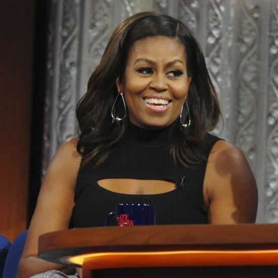Michelle Obama Talking About Beyonce With Stephen Colbert