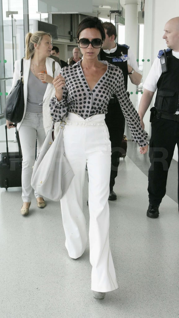 Photos of Victoria Beckham at Heathrow