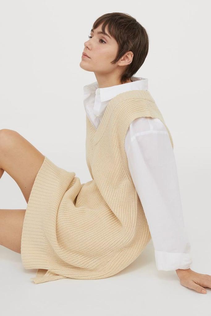 Knit Sweater Vest Dress