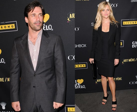 Pictures of Jon Hamm and Reese Witherspoon Support Livestrong Charity