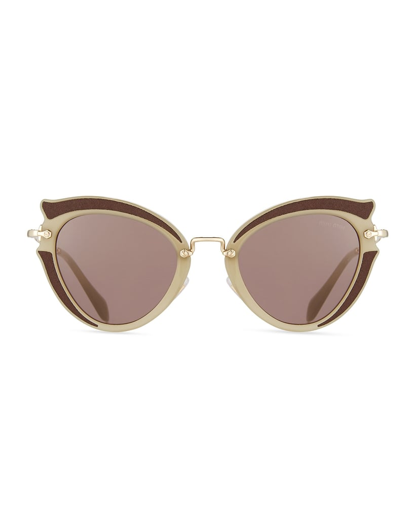 53a1588e7f83 Miu Miu Noir Gradient Cat-Eye Silk Satin Sunglasses | Best Fashion ...