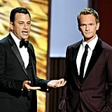 Jimmy Kimmel joked around with Neil Patrick Harris on stage.