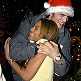 Beyoncé got a big hug from Ashton Kutcher after she got Punk'd in December 2003.