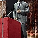 Idris Elba and Family at the Evening Standard Awards