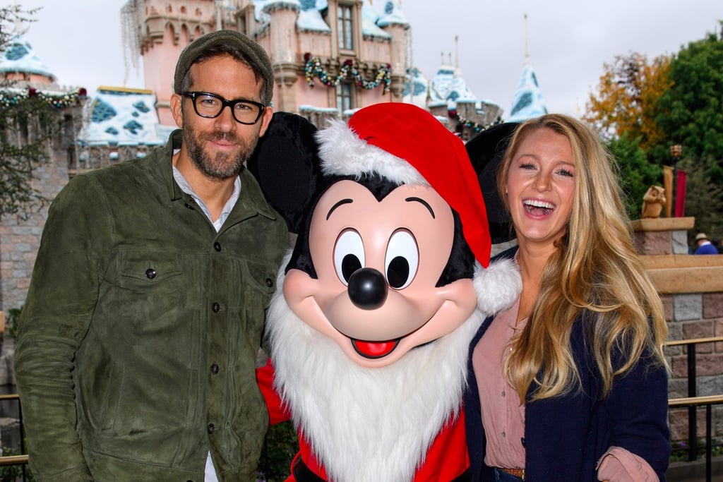 Blake Lively and Ryan Reynolds at Disneyland December 2016
