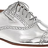 From personal experience, we can pretty much guarantee you'll love these J.Crew Mirror metallic oxfords ($258).