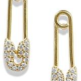 Adina's Jewels Pavé Safety Pin Earrings
