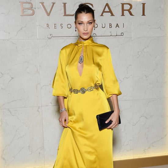 Bella Hadid Yellow Fendi Dress