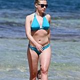 Scarlett broke out her bikini and hit the beach in Hawaii in February 2012.