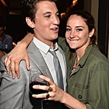 These two look cosy! Miles Teller and Shailene Woodley kept close at the after-party following a screening of The Spectacular Now in LA on July 30.