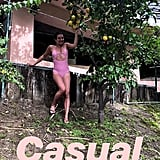 Lea Michele Pink Spiritual Gangster Swimsuit
