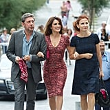 Penelope Cruz stepped out in Spain with Sergio Castellitto and Margaret Mazzantini by her side.