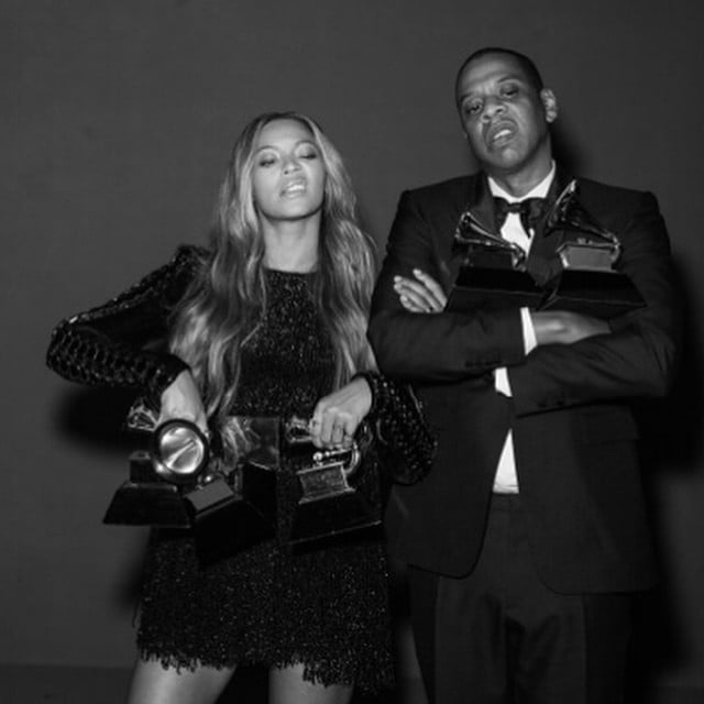 Beyoncé and Jay Z Do a Cute Couples Photo Shoot Backstage at the Grammys