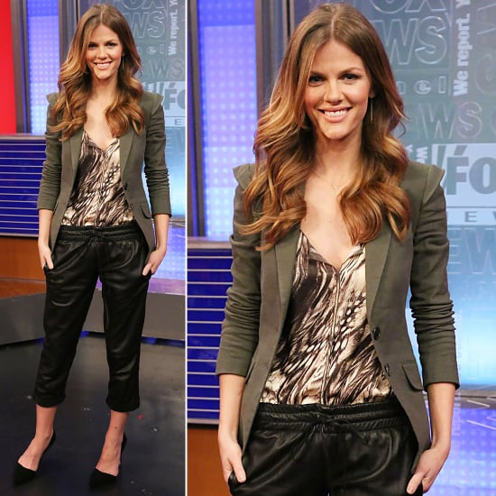 Brooklyn Decker Wearing Leather Pants | February 2013