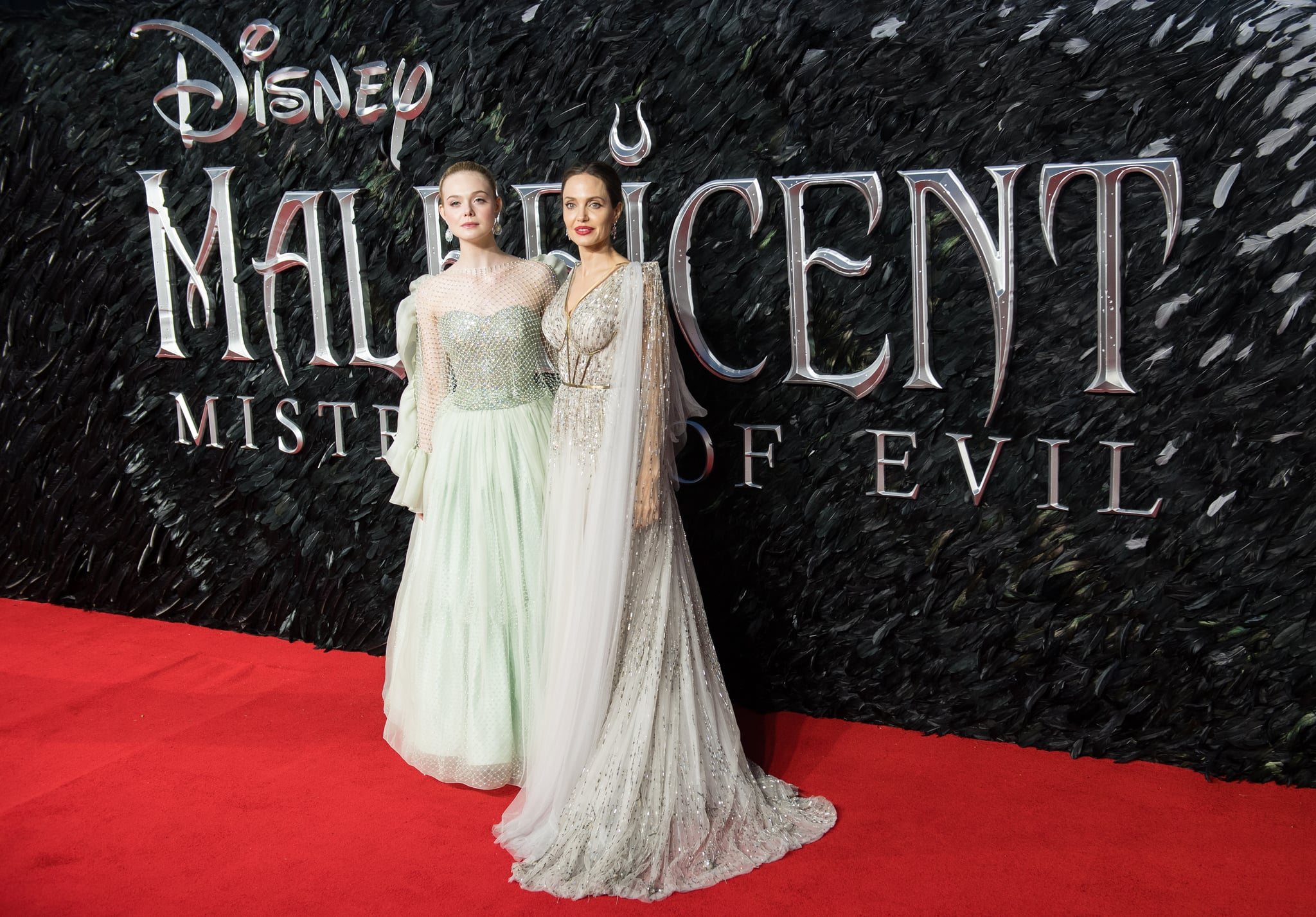 Elle Fanning And Angelina Jolie At The Maleficent Mistress