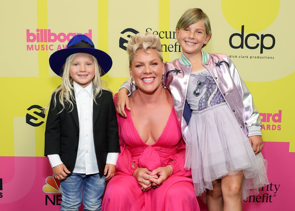 """Pink celebrated a big night at the Billboard Music Awards on Sunday night, and of course she had her adorable family in tow for the occasion. Ahead of receiving the Icon Award during the show, the singer walked the red carpet with her 9-year-old daughter Willow and 4-year-old son Jameson. The trio had smiles as bright as sunshine as they posed for the cameras in stylish outfits. In addition to receiving the coveted Icon Award during the show, the singer is also set to give an epic performance featuring some of her biggest hits over the years. We wonder if her daughter Willow will join her on stage for a performance of """"Cover Me in Sunshine."""" See more pictures from their night out ahead.       Related:                                                                                                           We Watched P!nk's """"All I Know So Far"""" Video, and All We Can Say Is """"WOW"""""""