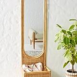 Hazel Rattan Floor Mirror