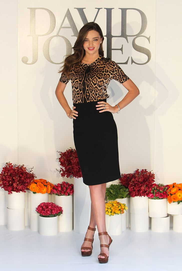 Miranda Kerr for David Jones in Melbourne.
