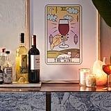 Wine Reading Art Print