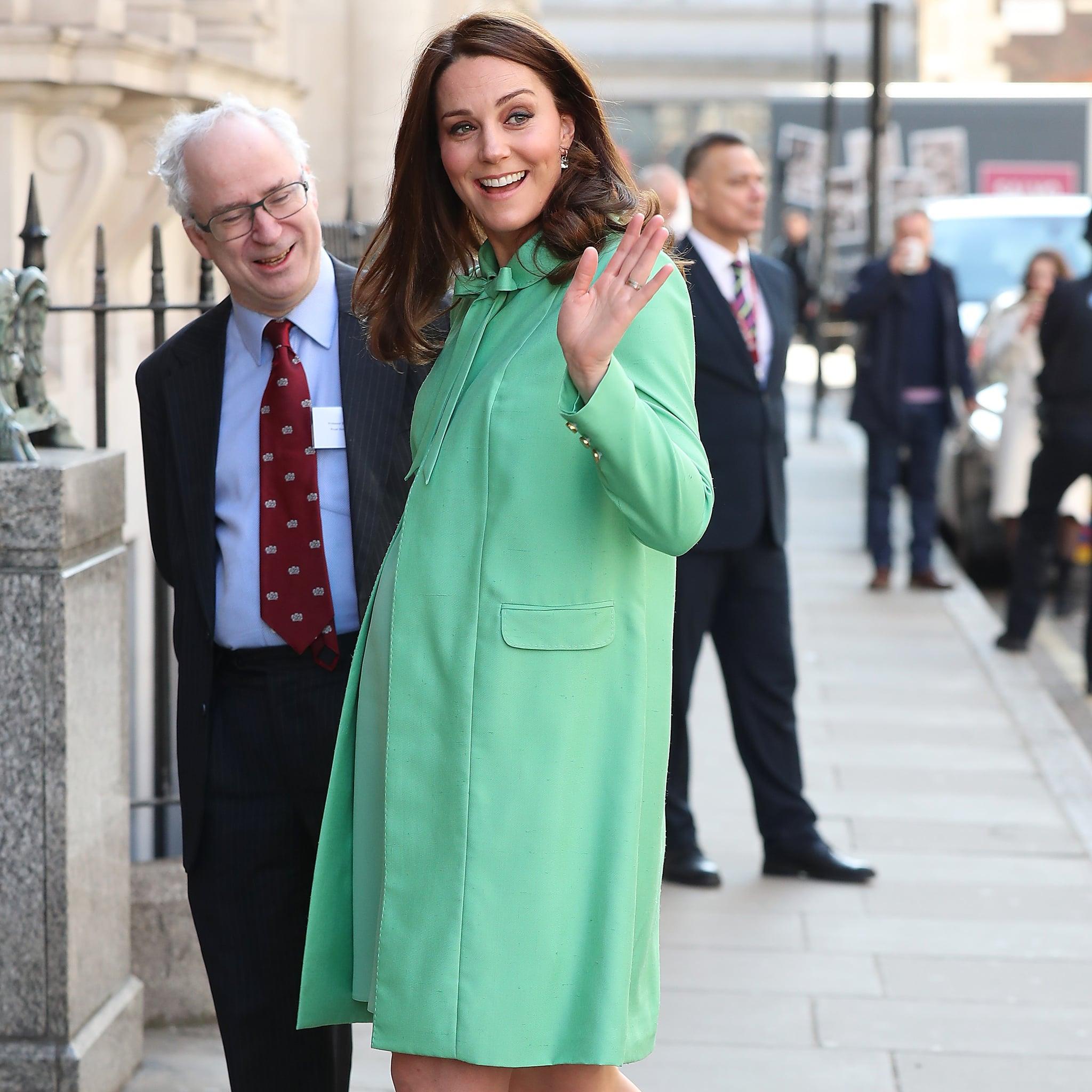 Kate Middleton Green Jenny Packham Coat | POPSUGAR Fashion Australia