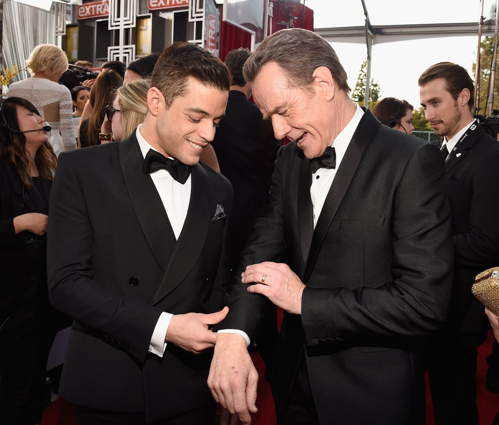 Rami Malek and Bryan Cranston met up on the 2016 red carpet.