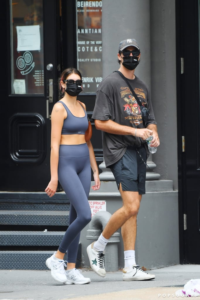 Kaia Gerber Wearing Set Active While Walking With Jacob Elordi in New York