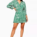 Topshop Animal Pintuck Shirt Dress