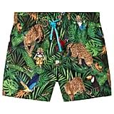 Dolce & Gabbana Cartoon Jungle-Print Swim Shorts