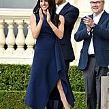 Meghan Markle Wears Dion Lee Dress October 2018