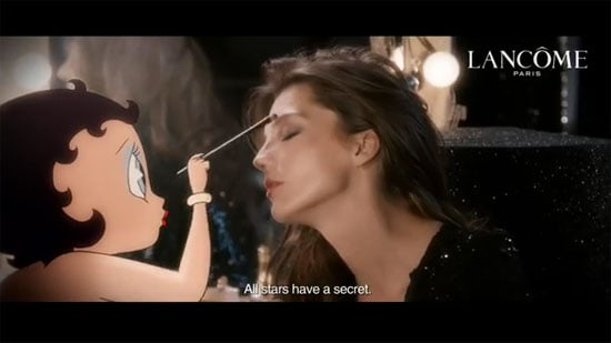 First Look: Betty Boop and Daria Werbowy in Lancôme Hypnôse Star Commercial Sneak Peek