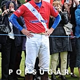 Prince William was dressed in his polo garb.