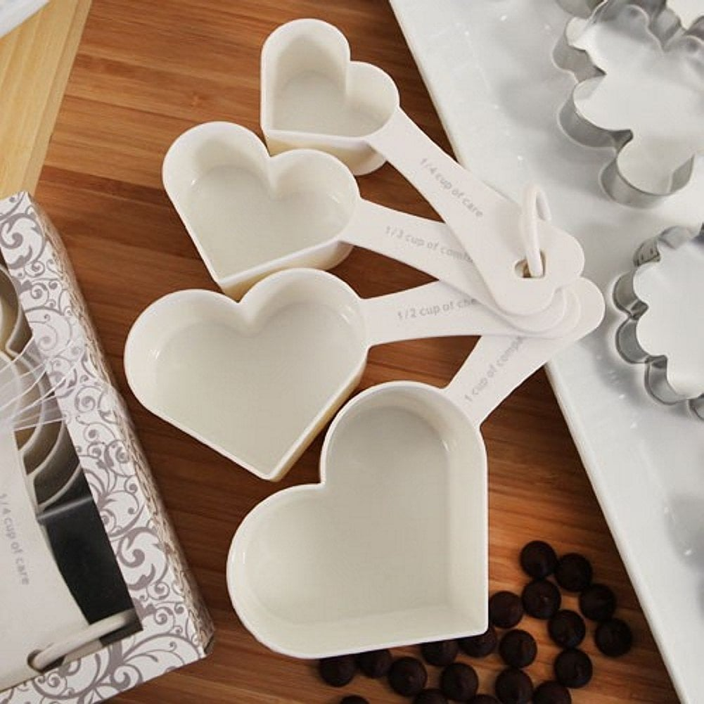 Heart Shaped Measuring Cups Set