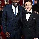 He looked dapper alongside double SAG Award winner Idris Elba.