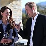 At the Misfield Winery in Queenstown, New Zealand, Kate Middleton and Prince William shared a toast.